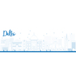 Delhi outline vector image