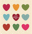 design concept for valentines day cute vector image vector image