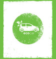 eco car drive green natural friendly vector image