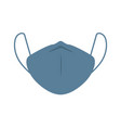 face pollution blue mask icon medical white mask vector image