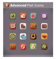 flat gambling icons vector image vector image