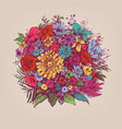 floral bouquet round floral arrangement vector image vector image