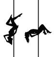 girl set silhouette vector image