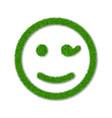 green grass face wink smile smiley grassy vector image vector image