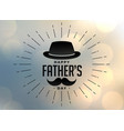 happy fathers day hipster style background vector image