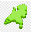 holland map icon cartoon style vector image vector image