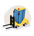 icon loader equipment for the warehouse vector image vector image