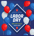labor day sale promotion banner template vector image