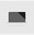 laptop with a dark display on a gray background vector image vector image