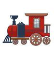 locomotive wooden or metal toy for kids vector image vector image