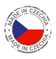made in czechia flag grunge icon vector image vector image