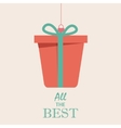 Merry Christmas Vintage Retro Typography Lettering vector image vector image