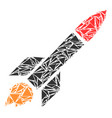 missile launch mosaic of triangles vector image vector image