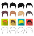 model style wig and other web icon in different vector image