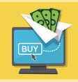 money transfers via internet vector image vector image