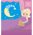moonlit night vector image