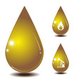 oil drop isolate on white back ground vector image