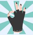 ok hand success gesture okey yes agreement signal vector image vector image