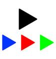 play glyph icon vector image vector image