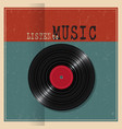 retro paper poster with vinyl disk record vector image