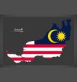 sarawak malaysia map with malaysian national flag vector image vector image
