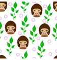 seamless gorilla vector image vector image