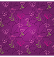 seamless origami pattern vector image