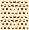 seamless pattern background of cat trace track vector image vector image