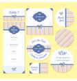 Set of retro wedding cards vector image