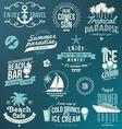 set travel and vacation emblems and symbols vector image vector image