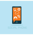 social phone concept flat design vector image