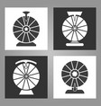 spinning wheel icons vector image vector image
