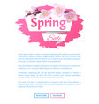 spring sale advertisement label branch of sakura vector image vector image
