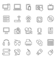 Technology and Electronics Icons vector image vector image