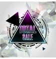 Total sale abstract geometric background vector image