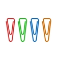 Triangular paper clips icon realistic style vector image vector image