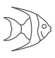 tropical fish thin line icon animal underwater vector image