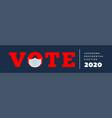 us presidential election lockdown vector image vector image