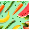 Vegetarian food pattern vector image vector image