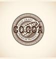 vintage cocoa label vector image vector image