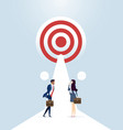 way to success business concept teamwork and vector image