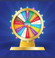 wheel of fortune 3d object lucky roulette in flat vector image