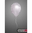 white air balloon eps10 vector image