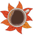 white cup coffee top view vector image vector image