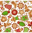 Christmas cookies pattern vector image