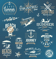 Set of travel and vacation emblems and symbols vector image