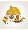 ukrainian house cartoon vector image