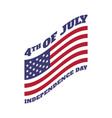 4th july united states independence day emblem vector image vector image