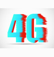 abstract 4g internet wirelles connection of vector image vector image