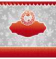 abstract christmas ornate cute frame vector image vector image
